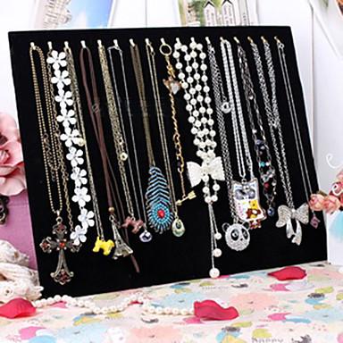voordelige Dames Sieraden-Vierkant Juwelenstandaarden - Modieus Zwart 37.5 cm 30.5 cm 3 cm / Dames