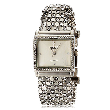 cheap Square & Rectangular Watches-ASJ Women's Bracelet Watch Square Watch Ladies Imitation Diamond Stainless Steel Silver White Black One Year Battery Life / Japanese / Japanese / SSUO SR626SW
