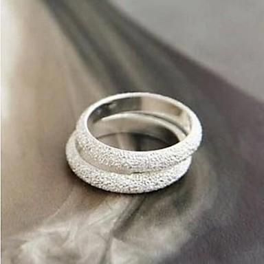 levne Dámské šperky-Dámské Band Ring 1ks Stříbrná Slitina dámy Módní Párty Denní Šperky