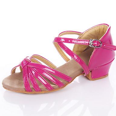 ราคาถูก รองเท้าเต้นราคาถูก-สำหรับผู้หญิง รองเท้าเต้นรำ PU ลาติน / บอลล์รูม รองเท้าแตะ ส้นต่ำ ไม่ตัดเฉพาะ เงิน / ทอง / สีบานเย็น / สำหรับเด็ก / หนังนิ่ม / EU37