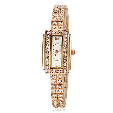 povoljno Ženski satovi-Žene Diamond Watch Zlatni sat Square Watch Kvarc Zlatna Bling Bling - Zlato Obala