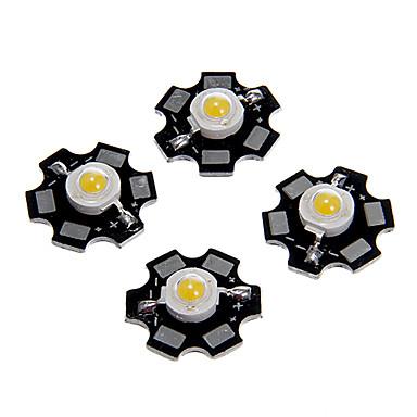 billige Elpærer-zdm 5 stk 1w 80-100lm høy lysstyrkebrikke, høy effekt ledet varm hvit høyde 3000-3500k, aluminiumsunderlag (dc3-3.2v 350ma)