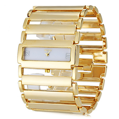 cheap Square & Rectangular Watches-Women's Bracelet Watch Gold Watch Square Watch Ladies Casual Watch Stainless Steel Silver / Gold Gold Silver / Japanese / Japanese