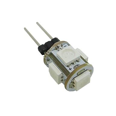 0.5 W LED-lampa 35-45 lm G4 T 5 LED-pärlor SMD 5050 Varmvit Kallvit Blå 12 V / RoHs