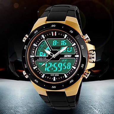 levne Pánské-SKMEI Pánské Sportovní hodinky Náramkové hodinky Digitální hodinky Křemenný Digitální Japonské Quartz Černá 30 m Voděodolné Alarm Kalendář Analog - Digitál Módní - Bílá Černá Červená Dva roky / LCD