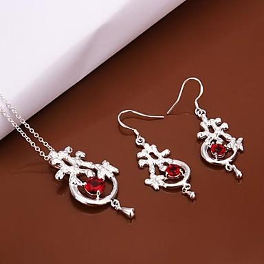 4573368125c6 Con baño de plata de moda y aretes Collar de joyería conjunto cristal rojo  mosaico de piedra 1530284 2019 –  9.99