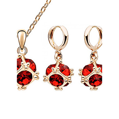 Jewelry Set Crystal Crystal Austria Crystal Alloy Party Birthday Engagement Gift Daily Earrings Necklaces Costume Jewelry