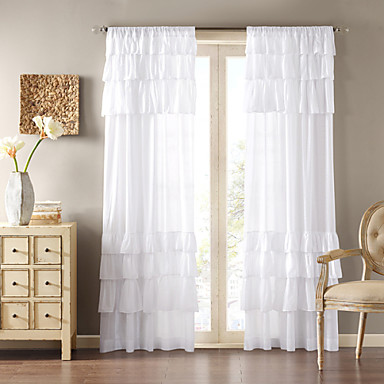 one panel curtain country solid living room polyester. Black Bedroom Furniture Sets. Home Design Ideas