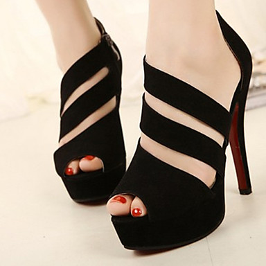7f3cc085874 Γυναικεία παπούτσια - Πέδιλα - Φόρεμα - Τακούνι Στιλέτο - Peep Toe - Σουέτ  - Μαύρο 1211353 2019 – $27.99