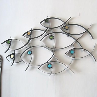 Metal Wall Art Wall Decor School Of Fish Wall Decor 1690113 2018 U2013 $106.99