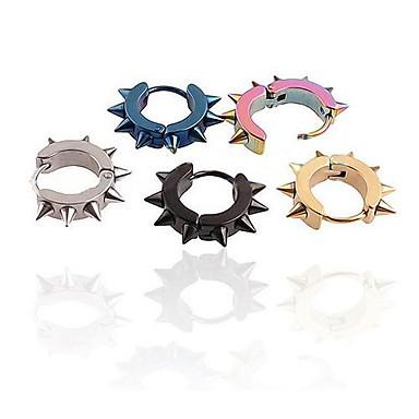 levne Pánské šperky-Pánské Náušnice - Kruhy Nerez Náušnice Šperky Pro Svatební Párty Denní Ležérní Sport