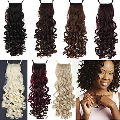 Ponytails Hair Piece Curly Classic Synthetic