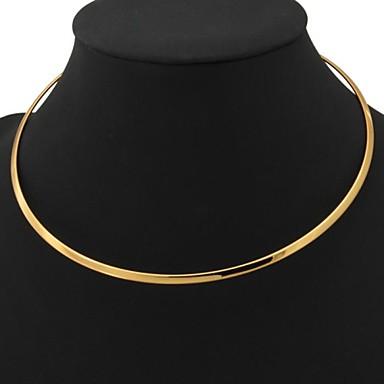 povoljno Modne ogrlice-Žene Pozlaćene dame Moda Platinum Plated Pozlaćeni Žuto zlato Ogrlice Jewelry Za Vjenčanje Party Dnevno Kauzalni
