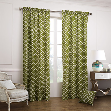 Two Panels Curtain Modern Jacquard Bedroom Cotton Material Curtains Ds Home Decoration 1606242 2018 42 83