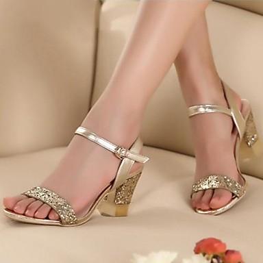 8de03238da4 Γυναικεία παπούτσια - Πέδιλα - Φόρεμα / Πάρτι & Βραδινή Έξοδος - Χοντρό  Τακούνι - Peep Toe - Μαλλί - Χρυσό 1604041 2019 – $34.99