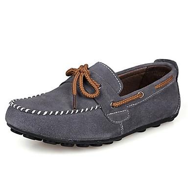 d4229bc7a22 Hombre Zapatos Ante Primavera   Verano   Otoño Mocasín Pajarita Azul marino    Negro   Marrón 1682177 2019 –  61.99