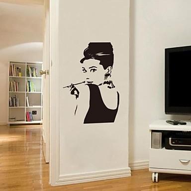 Adesivi Murali Audrey Hepburn.Jiubai Audrey Hepburn Muro Decalcomania Della Parete Del 1688587