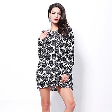hanyiou® dámské nová velká velikost dámské módní obchod kašmírový šaty modré  a bílého porcelánu 1700855 2019 –  31.48 89ce237c2a