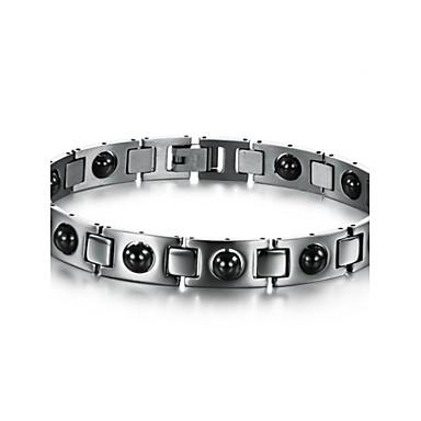 voordelige Herensieraden-Heren Cuff armbanden Tennis Armbanden Uniek ontwerp Modieus Initial Equilibrio Synthetische Edelstenen Armband sieraden Zilver Voor Kerstcadeaus Bruiloft Feest Dagelijks Causaal Sport