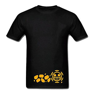 ed681d8ac Inspired by One Piece Trafalgar Law Anime Cosplay Costumes Cosplay  Tops/Bottoms Print Short Sleeves T-shirt For Men's 1649303 2019 – $20.39