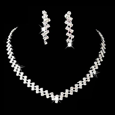 cheap Jewelry Sets-Women's Rhinestone Alloy Wedding Party Special Occasion Anniversary Birthday Engagement Gift Costume Jewelry