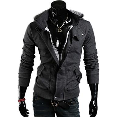 ΚΑΛΟ Απλή Casual κουκούλα παλτό (Μαύρο) 997944 2019 –  13.19 539821c2202