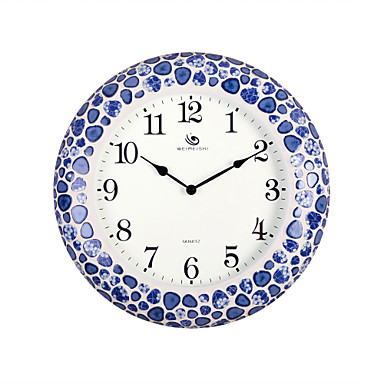 18 4 H Chinese Style Blue And White Porcelain Pattern Wall Clock 1600877 2019 83 69