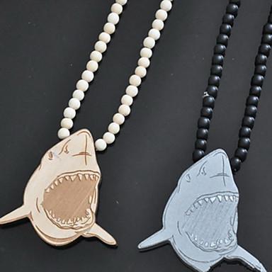 c7b21df79 móda pěkný hip hop shark attack přívěsek náhodné barvy dřeva náhrdelník s  přívěskem (1 ks) 1694965 2019 – $5.99