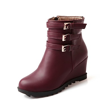 a5bfe9751e4 Women s Wedge Heel Wedges Booties Ankle Boots with Buckle Boots(More Colors)  1649723 2019 –  44.99