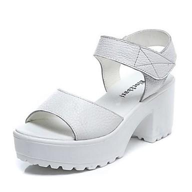 svarta platå sandaler