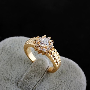 Women S Fashion Flowers Design 18k Gold Zircon Wedding Ring 1770089
