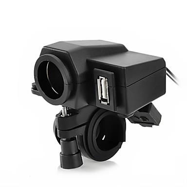 billige Motorsykkel & ATV tilbehør-jtron motorsykkel vanntett strømadapter cigrette socket - svart