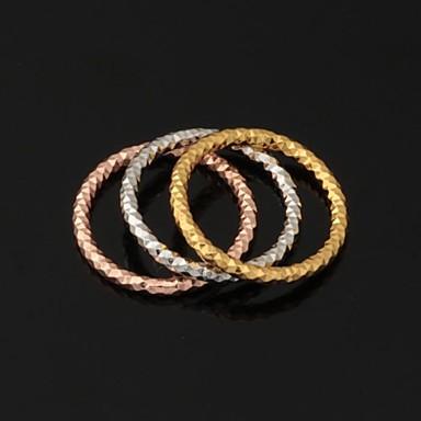 billige Ring Set-Dame Parringer Band Ring Statement Ring Platin Belagt Gullbelagt Hvitt gull Sirkelformet Geometrisk Form Bryllup Fest Smykker