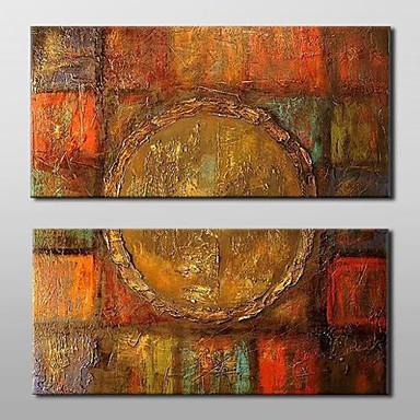 povoljno Ulja na platnu-Hang oslikana uljanim bojama Ručno oslikana - Sažetak Klasik Tradicionalno Uključi Unutarnji okvir / Prošireni platno