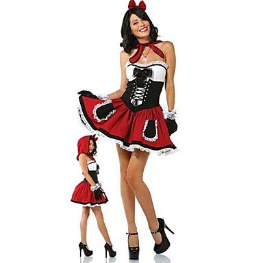 Unschuldiges Madchen Rotkappchen Frauen Halloween Kostum 1727220