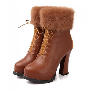 761abe61e06 dámská obuv módní tlustý podpatek kotníčkové boty se šněrováním-up rozdělit  společné více barev k dispozici 1832308 2019 –  32.99
