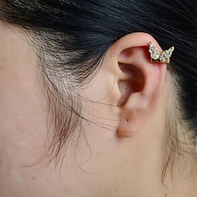 levne Dámské šperky-Dámské Ušní manžety Motýl Zvíře Luxus Štras Umělé diamanty Náušnice Šperky Pro Svatební Párty Denní Ležérní Sport