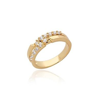 Women S Fashion Simple Design 18k Gold Zircon Wedding Ring 1770086