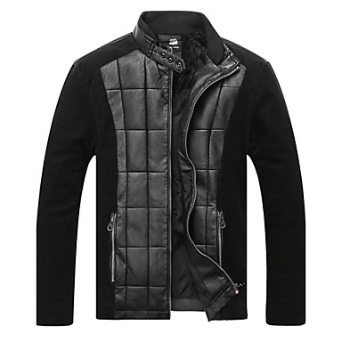 férfi divat és kasmír termikus varrás bőrkabát 1801779 2019 –  68.99 1a94b29569