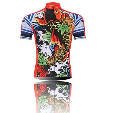 XINTOWN Homens Manga Curta Camisa para Ciclismo Desenho Animado Moto  Secagem Rápida bcf24742b580b
