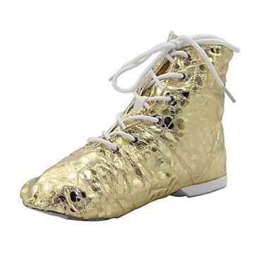 preiswerte Jazztanzschuhe-Damen Tanzschuhe PU Jazztanzschuhe Stiefel / Gespaltene Sole Silber / Gold / EU43