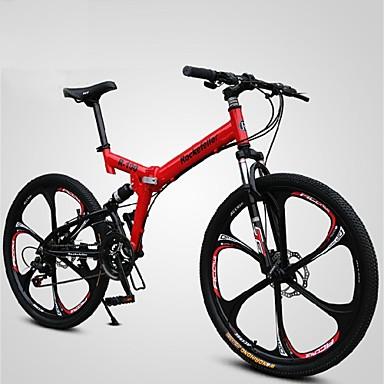 voordelige Fietsen-Mountain Bike / Vouwfietsen Wielrennen 21 Speed 66.0 cm / 700CC SHINING SYS Dubbele schijfrem Geveerde voorvork Frame met zachte achtervering Normale Alumiiniseos / #