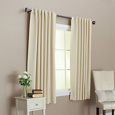 Two panels curtain modern solid living room material for Decoration maison rideaux fenetre