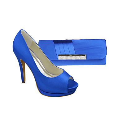 80f4c1091 Zapatos de mujer - Tacón Stiletto - Punta Abierta / Plataforma / Zapatos y  Bolsos a Juego - Tacones - Fiesta y Noche / Vestido - Satén - 1880306 2019  – ...
