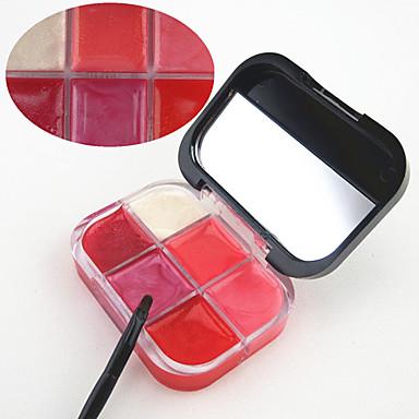 6 färger Gelé Läppglans Sminkspegel Fuktig / Skimmrig Fukt / Långvarig / Naturlig Smink Kosmetisk Skötselprodukter