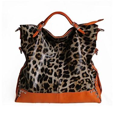 8fcaa3e9a0 nők nagy leopárdmintás valódi bőr Tote Shoulder Messenger crossbody táska  1839816 2019 – $89.99