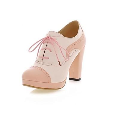 7b4a84ab502 dámské boty špičaté prst tlustý podpatek kotníkové boty se šněrováním-up  rozdělit společné více barev k dispozici 1832447 2019 –  22.99