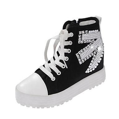 7f391a143c női cipő platform lapos sarok farmer divat cipők cipő strasszos csipke több  színben 1832258 2019 – $29.99