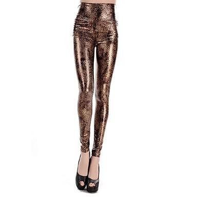 775d7f736e2 Dámské módní faux kožené malý leopard tisk vzor vysokým pasem legíny  1730738 2019 –  15.74