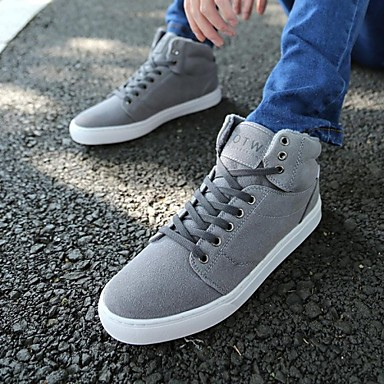men's shoes casual canvas fashion sneakers black / brown
